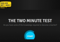 Two minute teacher test